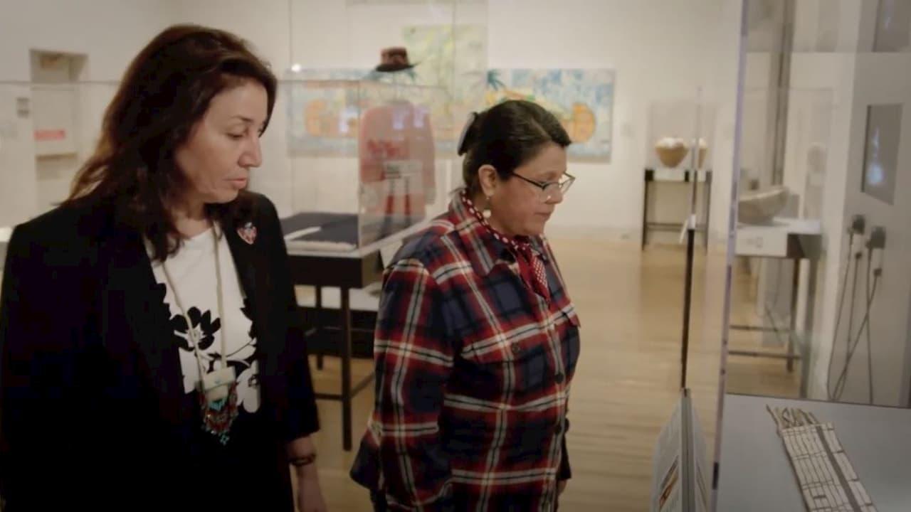 Co-curator Teri Greeves and artist Carla Hemlock at the Renwick Gallery, Smithsonian American Art Museum. Craft in America DEMOCRACY