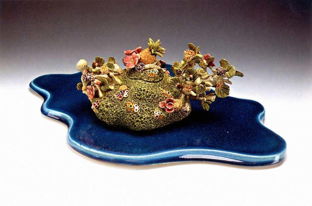 Joan Takayama-Ogawa, Tropical Paradise Teapot, Craft in America