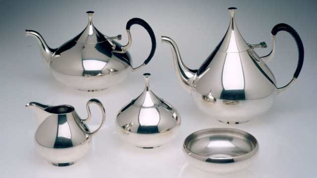 John Prip, Dimension, Tea and Coffee Service, 1961 - feature, Craft in America