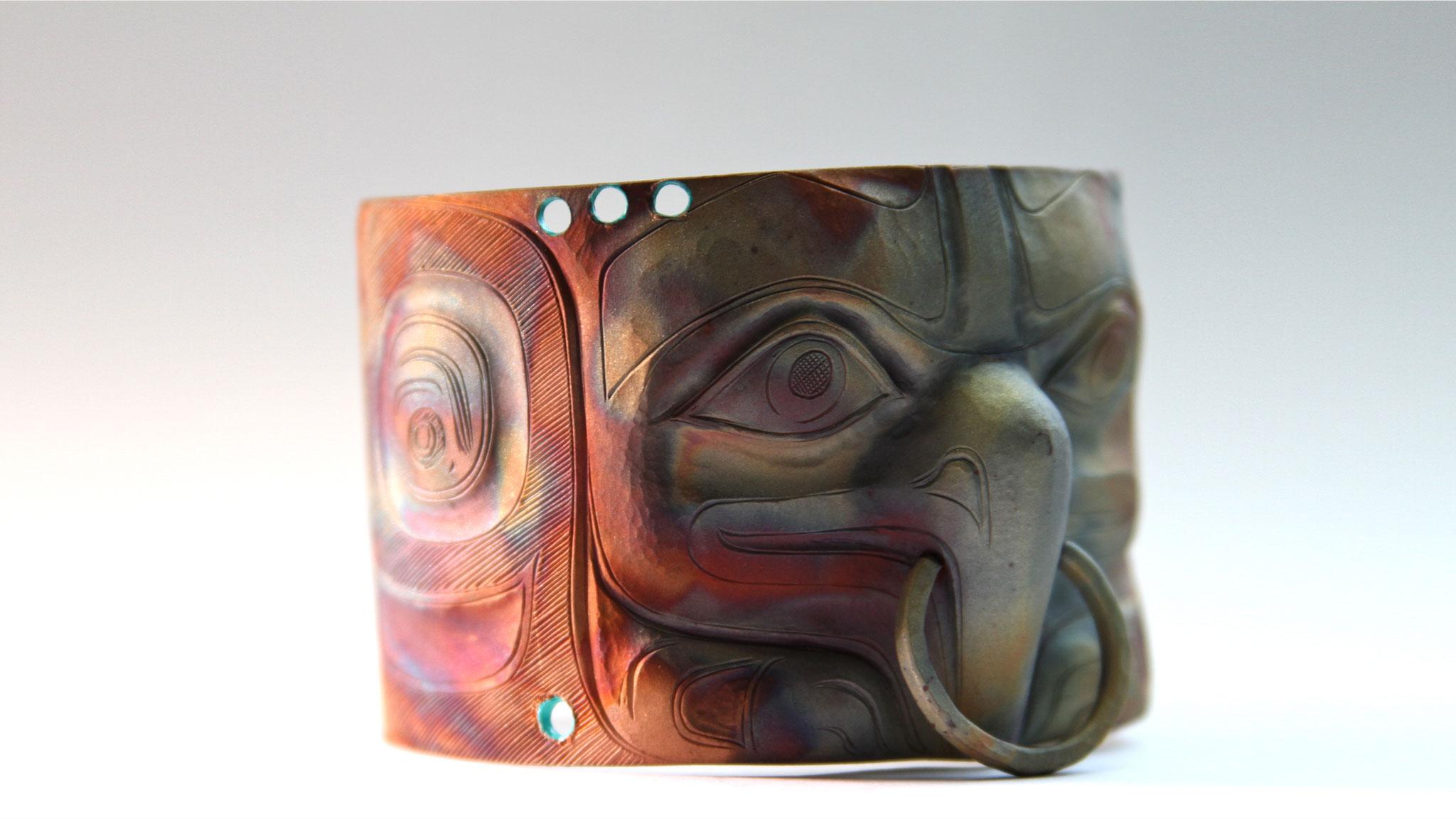 Nicholas Galanin, Eagle Bracelet, 2012. Courtesy of the artist. Craft in America STORYTELLERS