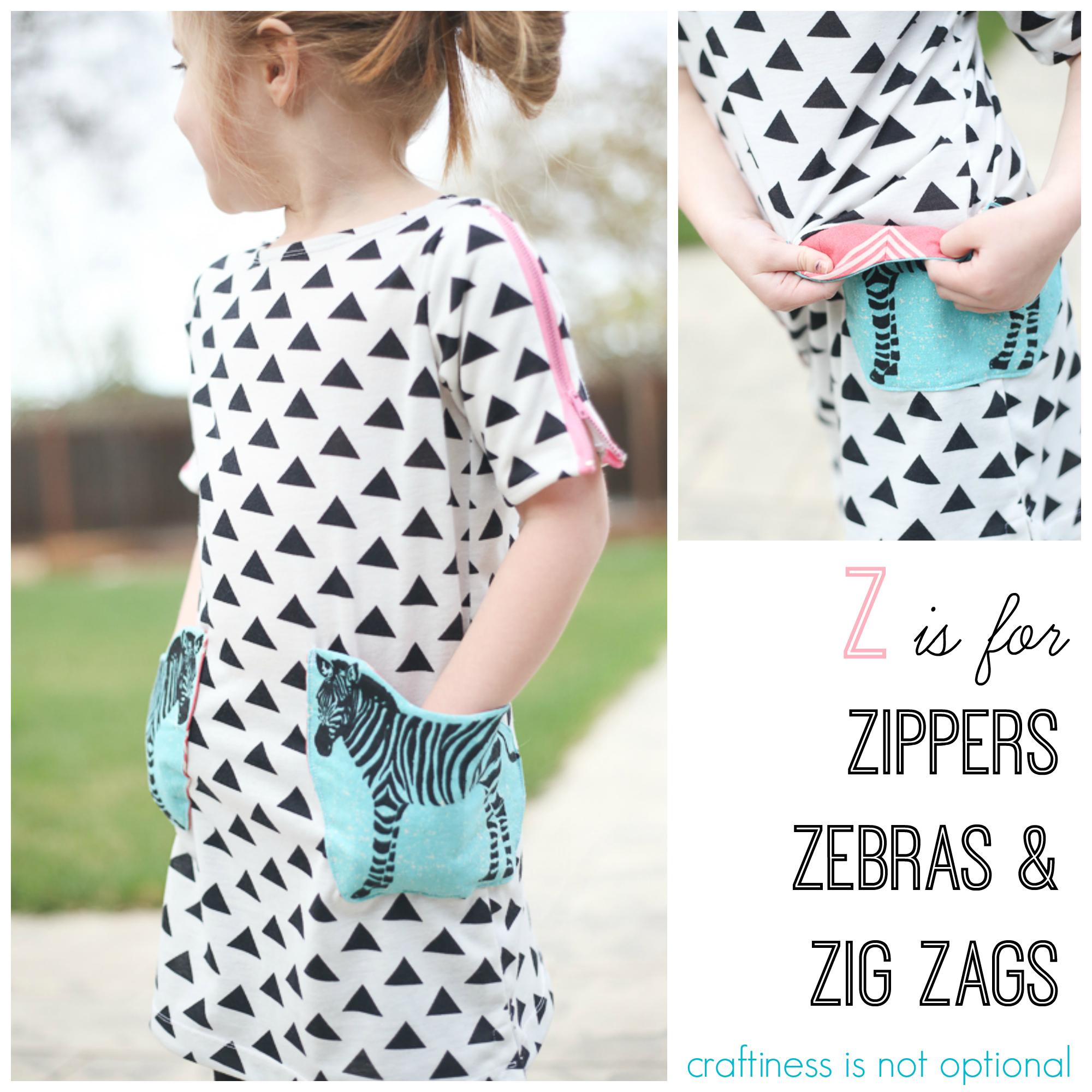 Z Is For Zipper Zebra And Zig Zag