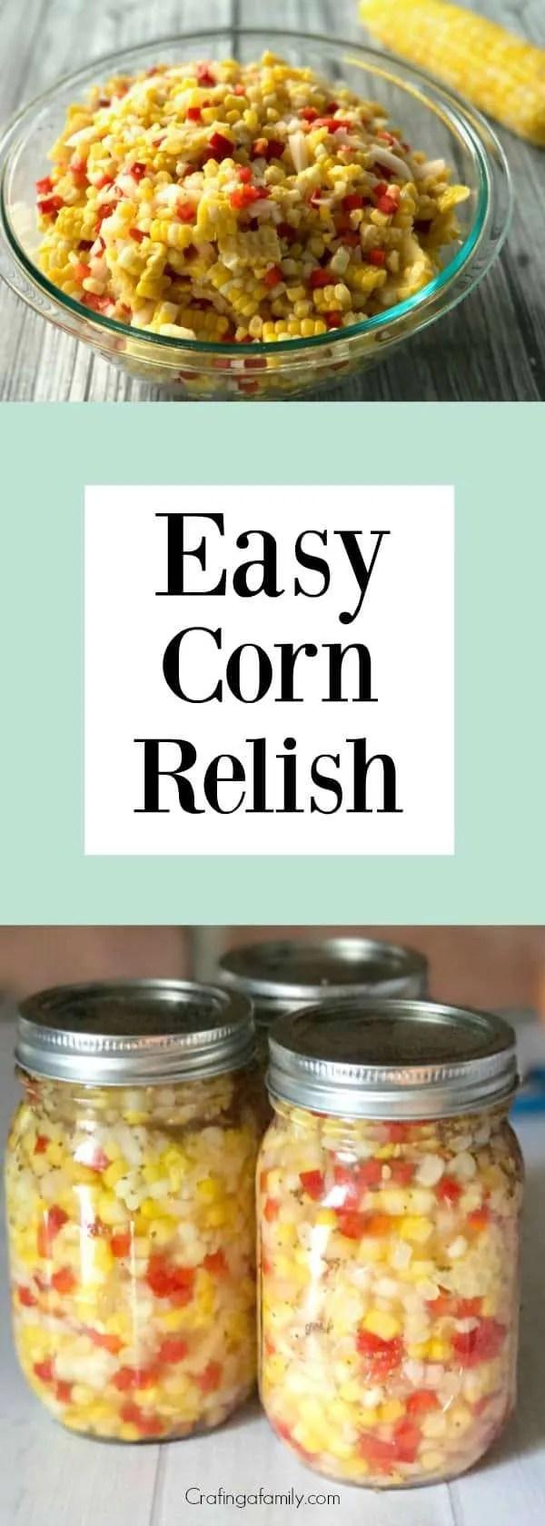 Easy Homemade Corn Relish