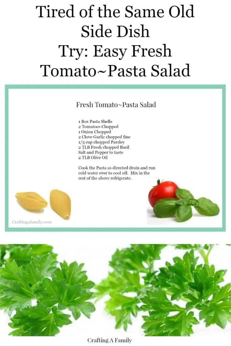 Fresh Tomato-Pasta Salad