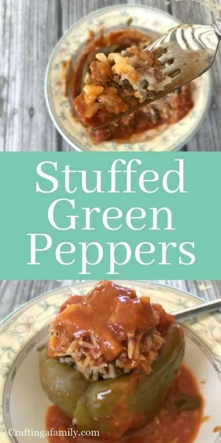 Grace Buonpane's Stuffed Green Peppers ~ Modern Trick to your Mom's Stuffed Green Peppers
