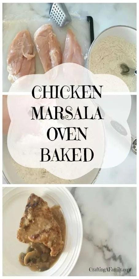 Chicken Marsala Oven Baked