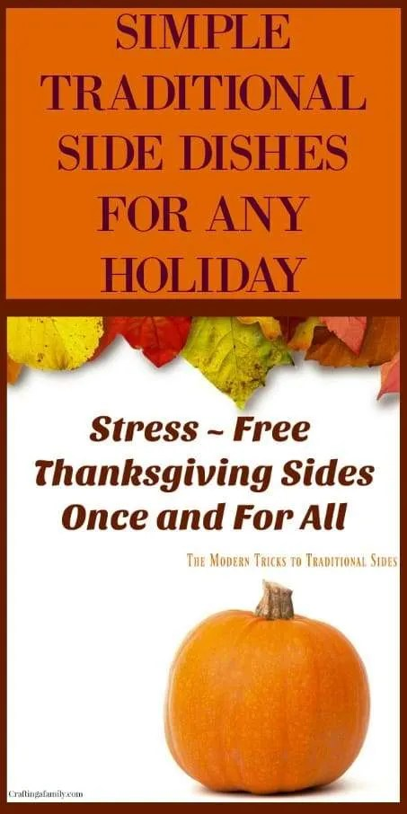 You will find easy and simple recipes for holiday side dishes and tip for Thanksgiving and Christmas dinner.