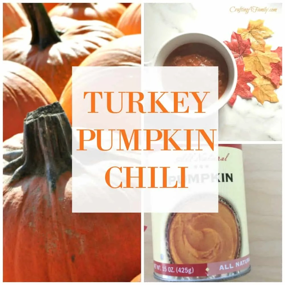 I cannot believe how great tasting this Turkey pumpkin chili is and how my family loves it more than my traditional chili. Fall weather just says chili and this chili is full of flavor and vegetables.