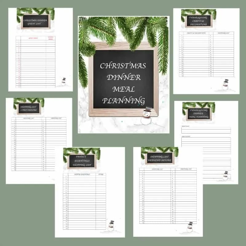I start my Christmas planning early. I love to have beautiful printables to get me in get into the Christmas sprit. These Christmas printables have a beautiful retro theme. I tell all my friends to Plan Ahead for a Stress Free Holiday.