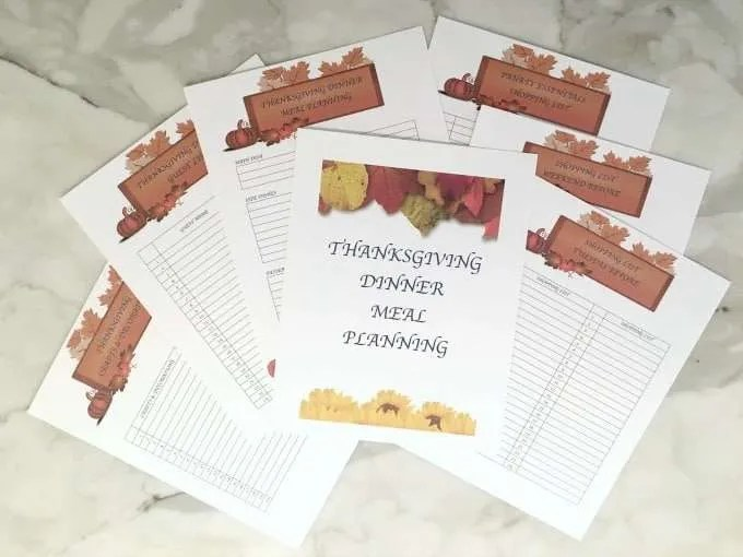 Thanksgiving Meal Planning Printables Organize Thanksgiving Dinner