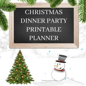 CHRISTMAS DINNER PARTY PRINTABLE PLANNER