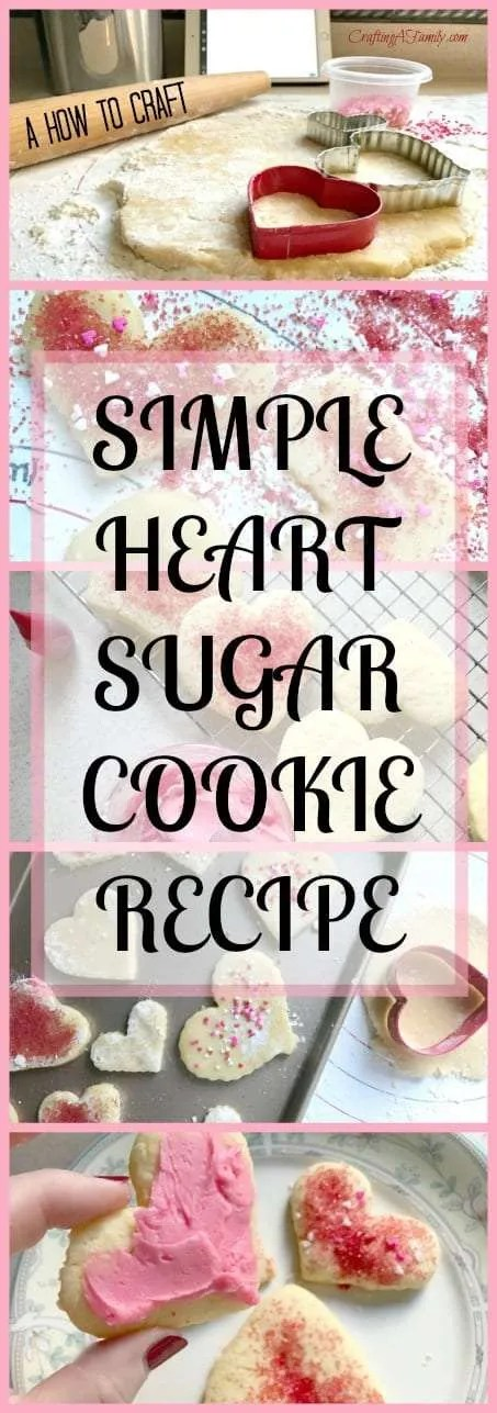 Making valentine's heart sugar cookie with kids in the month of February will fill your heart with joy and love. Valentine's is all about love and bring this love with a simple craft that is hands on and full of laughter.