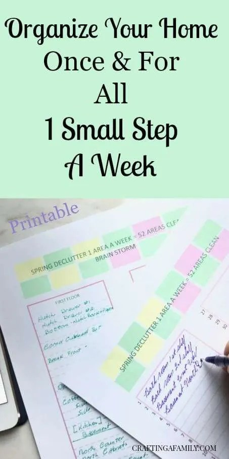 1 Small Step a Week Declutter – 1 Area a Week Will Organize Your House
