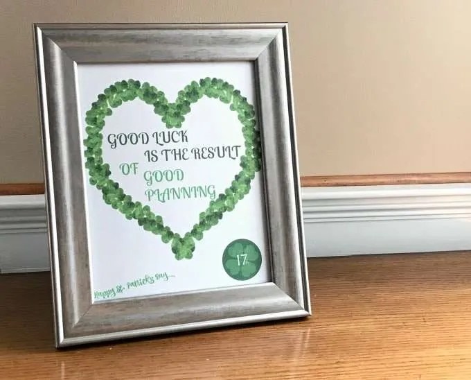 Shamrock Free Printable St. Patrick's Day