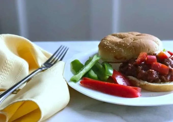 Simple summer homemade Sloppy Joes are a perfect family dinner that brings back memories of summer camps and picnics at home. I like to cook with as many fresh simple ingredients as I can and still keep a recipe quick and easy.