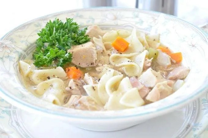 Electric Pressure Cooker Quick Chicken Noodle Soup Recipe is such a comfort food. It is quick and easy. It reminds you of home and family and perfect for any chilly day.
