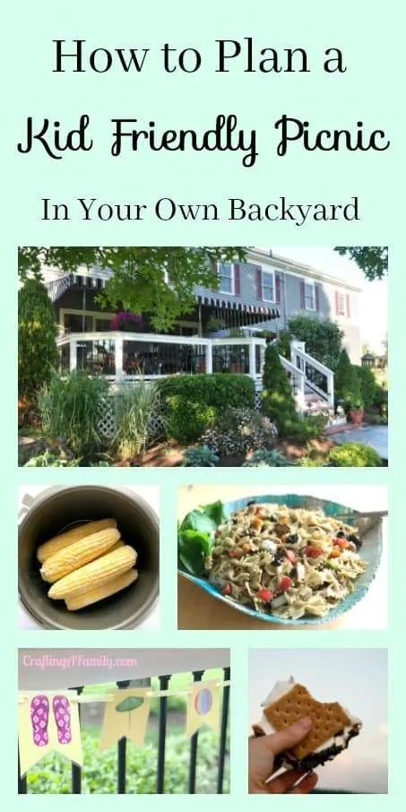 How to plan a kid friendly picnic in your own backyard with free mini E-Book for the whole plan