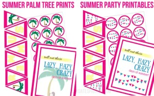 Life is Better in Summer Party Printables