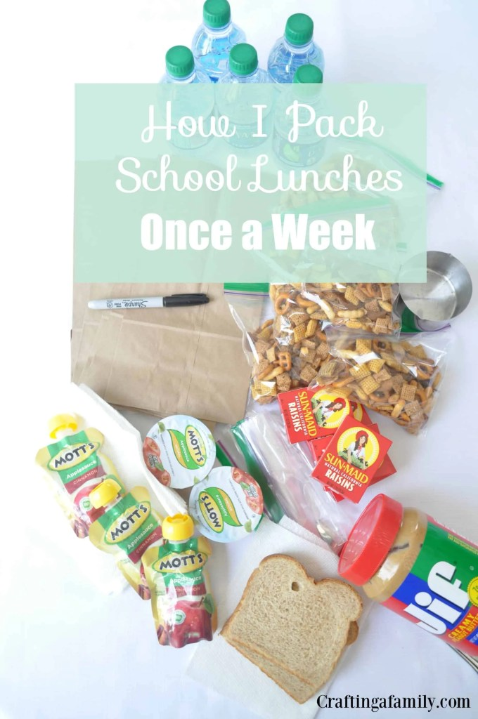 How I Pack School Lunches Once a Week with Free Printable Notes