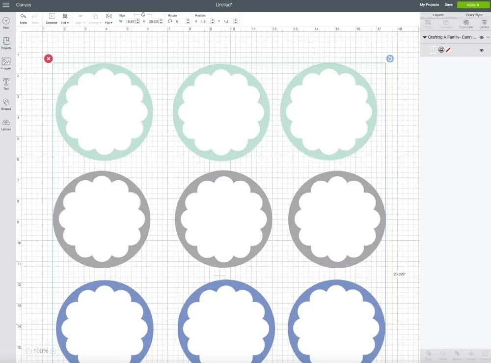 Print & Cut Label Tutorial in Cricut Design Space ~ Crafting