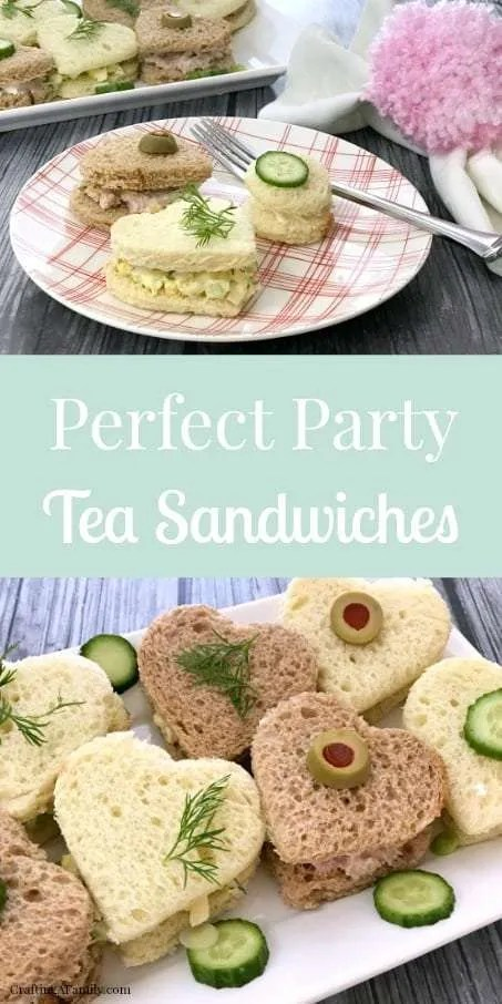 Valentines Party Tea Sandwich Recipes