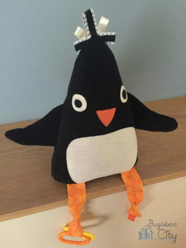 Penguin baby toy tutorial and free pattern