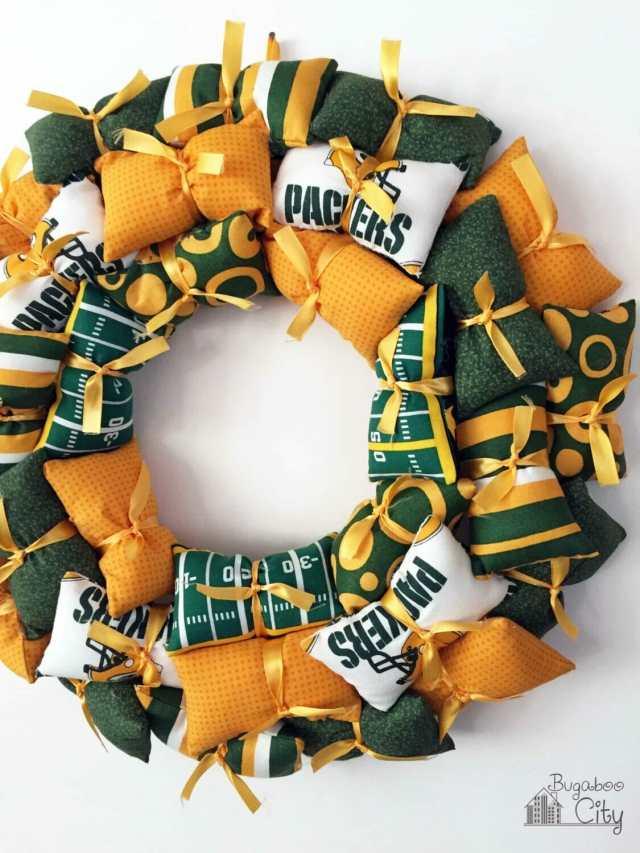NFL Pillow Wreath Tutorial