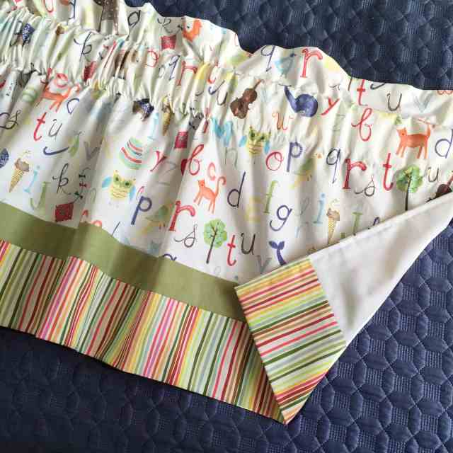 DIY Curtains from a Crib Sheet