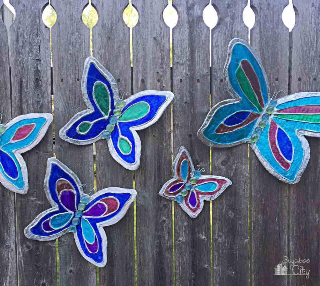 DIY Butterfly Lawn Ornaments