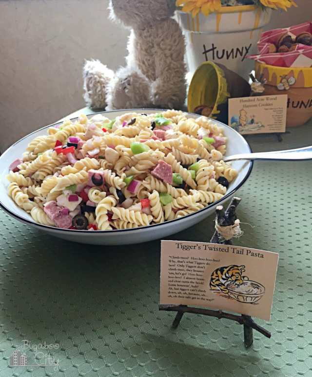Winnie the Pooh Party Food Ideas - Tigger's Twisted Tail Pasta