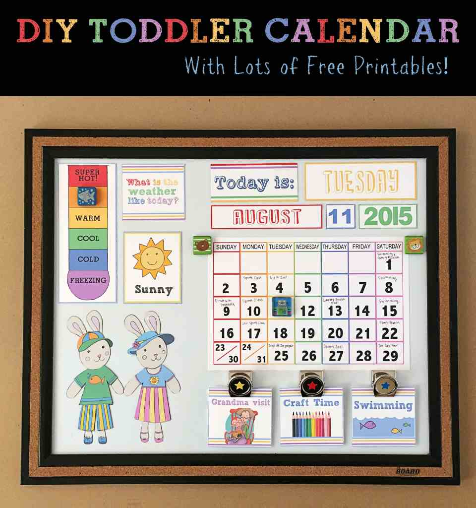 DIY Toddler Calendar With Lots of Free Printables