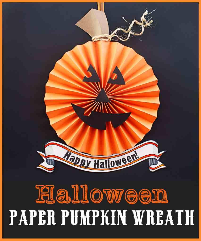 Halloween Paper Pumpkin Wreath Tutorial new