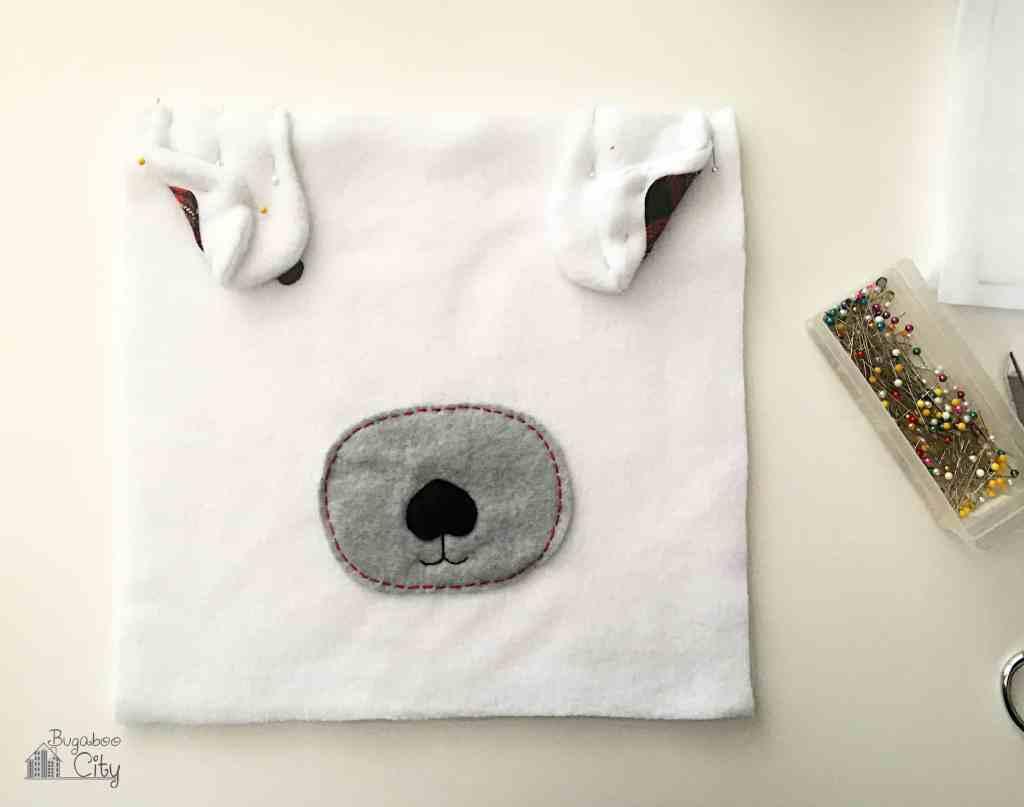 DIY Polar Bear Holiday Pillow 10