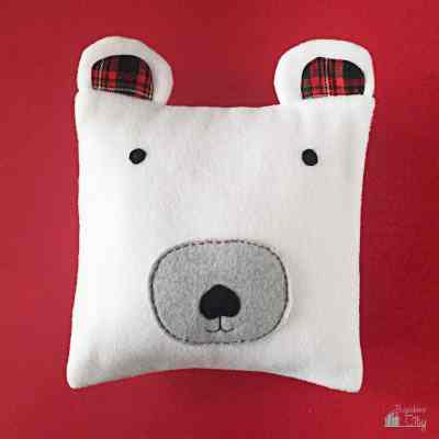 DIY Fleece Polar Bear Pillow