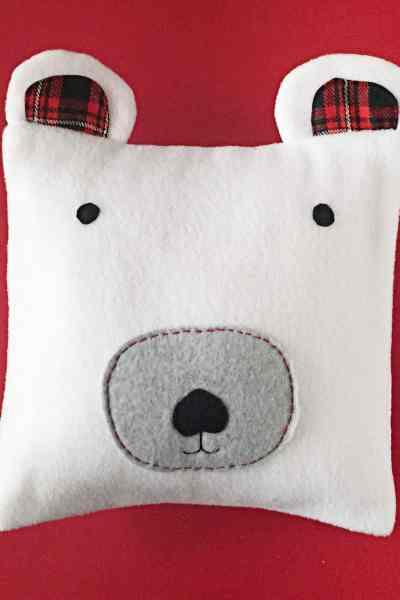 DIY Fleece Polar Bear Pillow