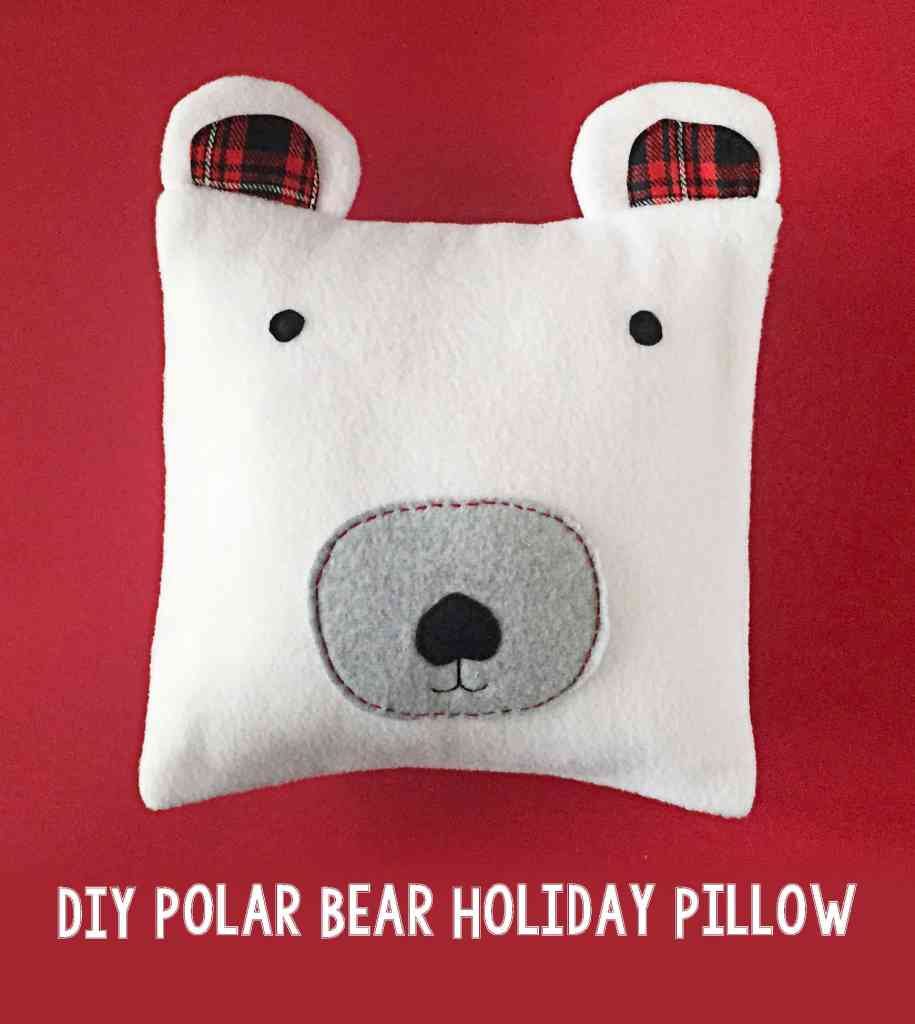 DIY Polar Bear Holiday Pillow 99
