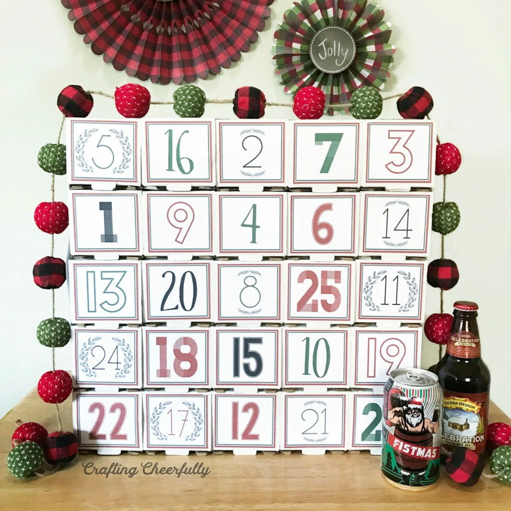 Beer Advent Calendar from CraftingCheerfully.com