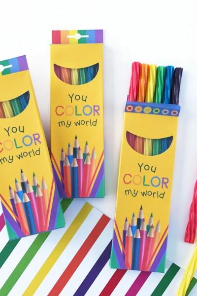 Colored Pencil Treat Box