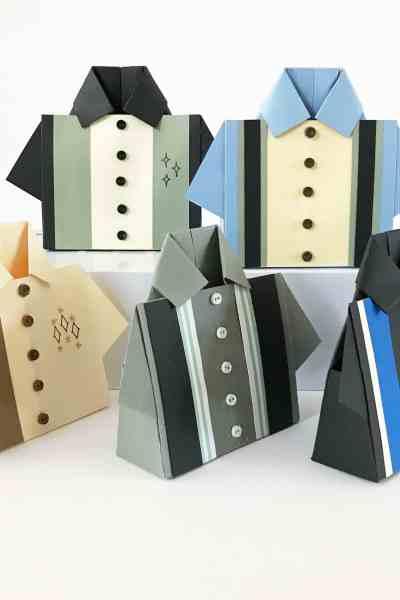 Bowling Shirt Origami Treat Box