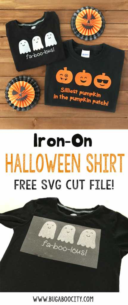 DIY Iron-On Halloween Shirts - Free SVG Cut Files
