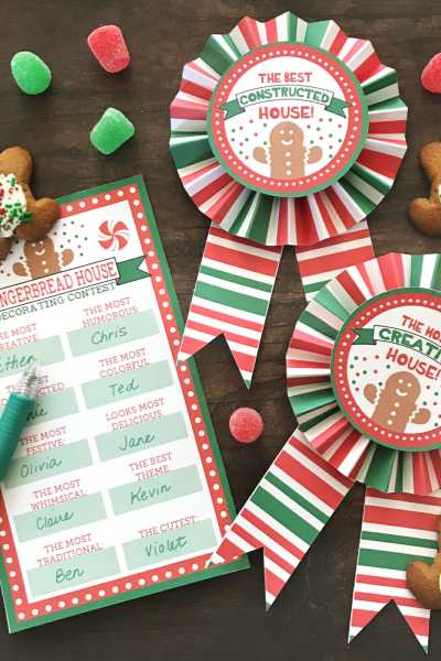Gingerbread House Party – Free Printable Award Ribbons