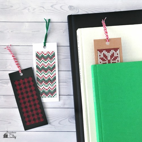 Winter Cross Stitch Bookmarks