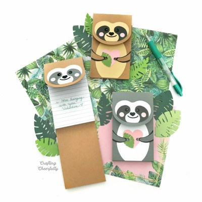 DIY Sloth Notepads