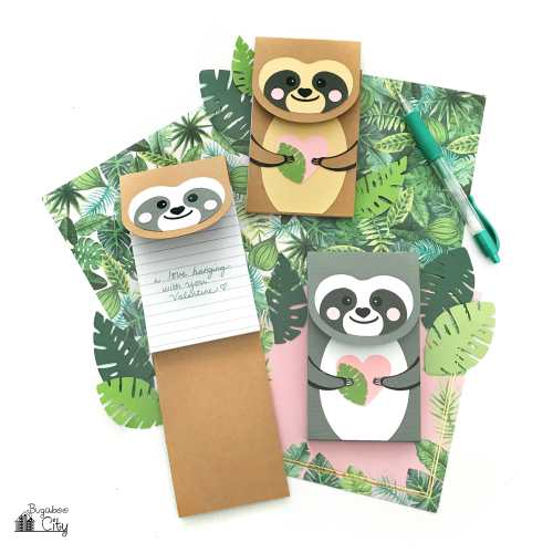 DIY Sloth Notepads