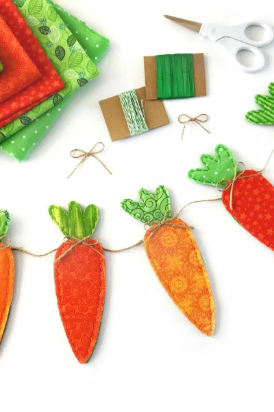 Fabric Carrot Banner for Easter
