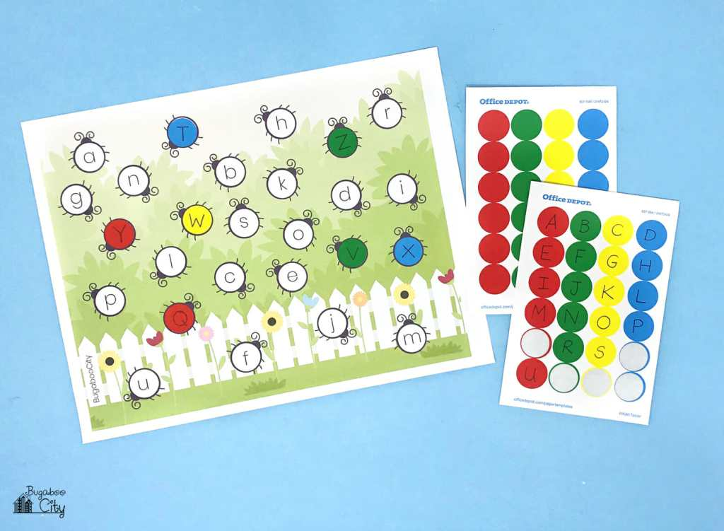 ABC Garden Dot Pages - Free Printable Preschool Activity