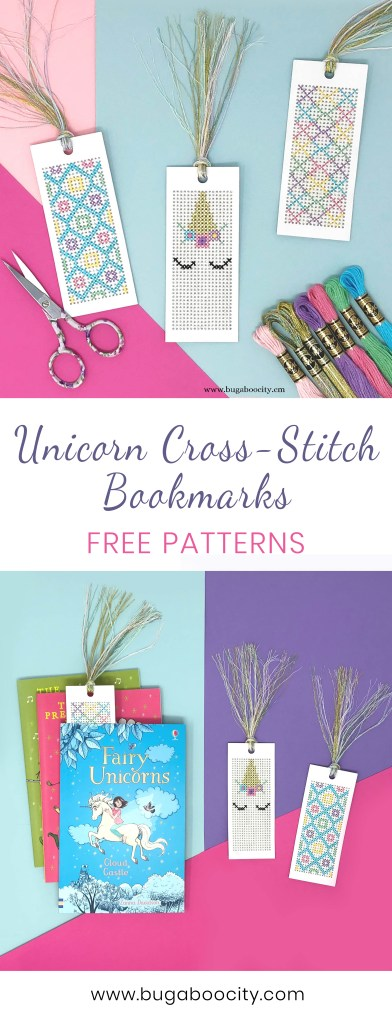 DIY Unicorn Cross-Stitch Bookmarks - Free Pattern