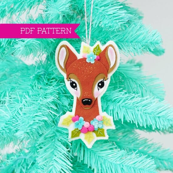 Reindeer Christmas Ornament by Lolli & Grace