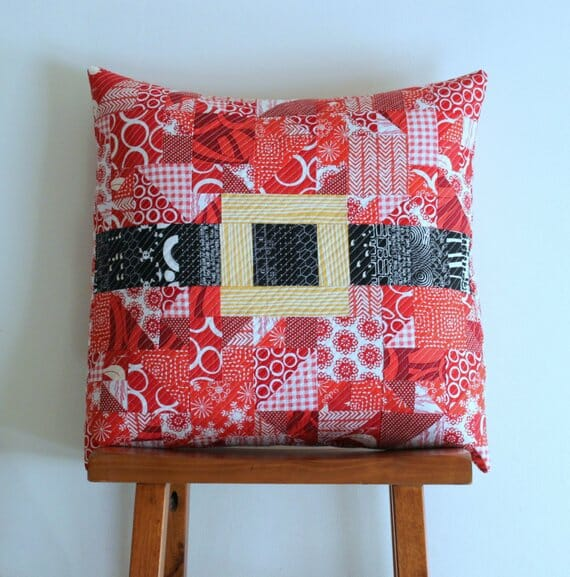 Modern Merry Christmas Santa Pillow by Punkin Patterns