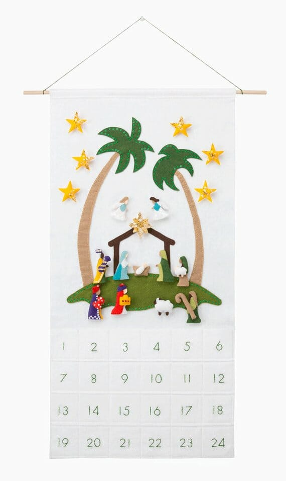 Nativity Advent Calendar by Sugar House Shop