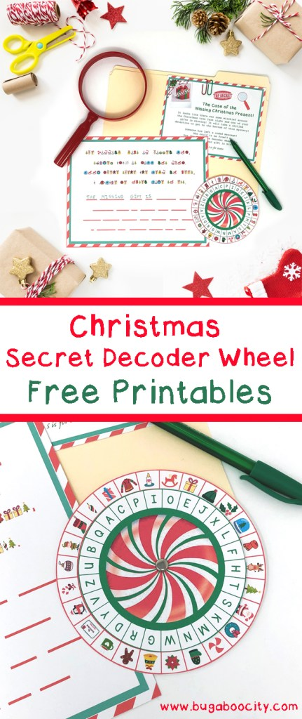 Christmas Secret Decoder Wheel Free Printables